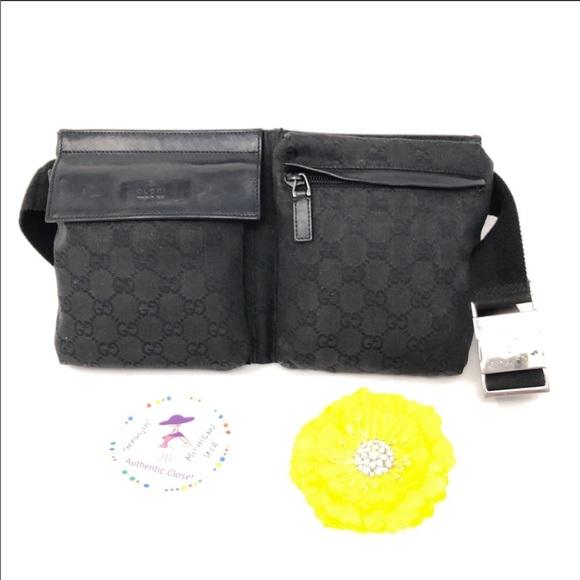 6c5828e846a Gucci Handbags - Gucci Vintage GG Black Monogram Belt Bag